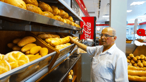 angelo doing bread check