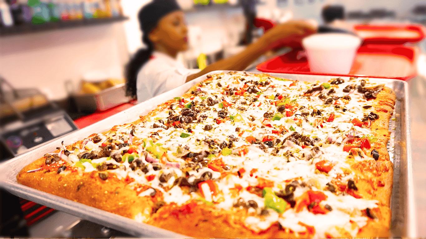 focaccia crust pizza